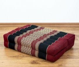 Stützkissen, Yogakisssen (klappbar)  rot / schwarz