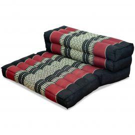 Stützkissen, Yogakisssen (klappbar)  schwarz / rot