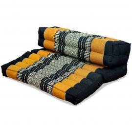 Stützkissen, Yogakisssen (klappbar)  schwarz / orange