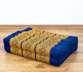 Stützkissen, Yogakisssen (klappbar)  blau / gelb