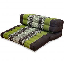 Stützkissen, Yogakisssen (klappbar)  braun / grün