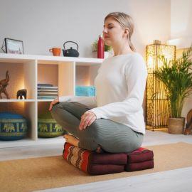Stützkissen, Yogakisssen (klappbar)  braun