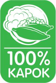 Kapok Thaikissen, Dreieckskissen, grün, 3 Auflagen + Papayakissen